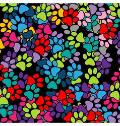 Paw Print background vector image