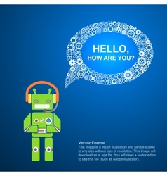 robot and a text bubble vector image