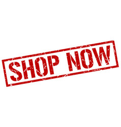 Shop now stamp vector