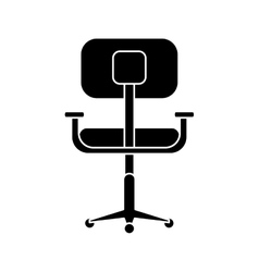 Silhouette chair office comfort workplace design vector