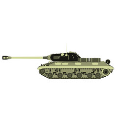 Tank military war icon army vehicle flat battle vector