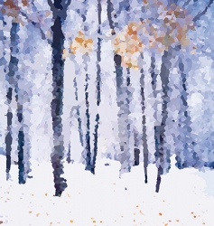 winter forest landscape vector image