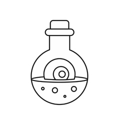 Potion in flask icon outline style vector