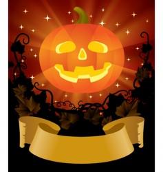 Halloween placard vector image