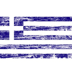 Flag of greece with old texture vector