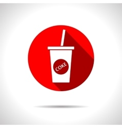 Cola icon eps10 vector