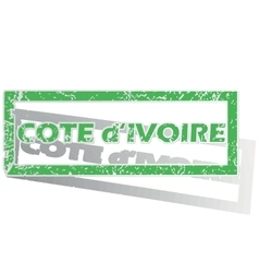 Outlined cote d ivoire stamp vector