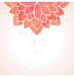 Watercolor red flower pattern background vector