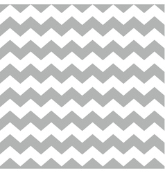 Tile chevron pattern with white and grey zig zag vector image