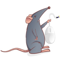 mouse with a mouse vector image