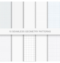 Set of simple geometry patterns vector