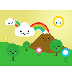Cute nature vector