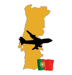 Fly me to the portugal vector