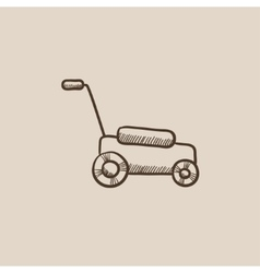 Lawnmover sketch icon vector
