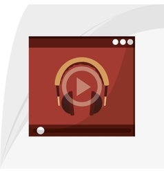 Music icon retro concept flat vector