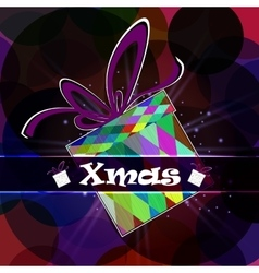 Festive card gift box vector