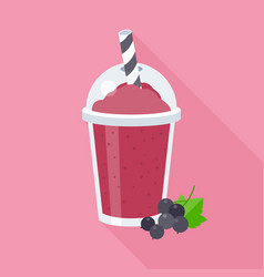 black currant smoothie vector image vector image