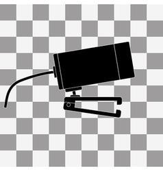 black Webcam icon vector image