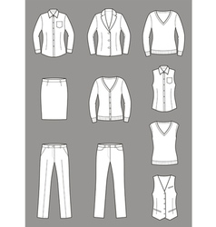 Business clothes set vector image vector image