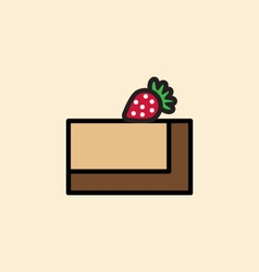 Cake slice icon vector
