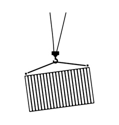 Cargo container icon vector