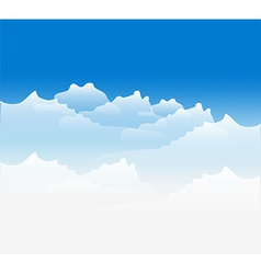 Clouds sky background vector image