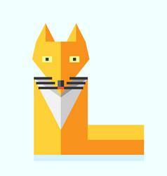 Cute bright flat fox vector image vector image