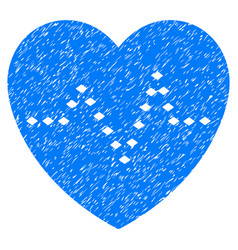 dotted heart pulse grunge icon vector image