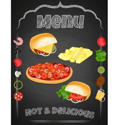 Fastfood chalk vector