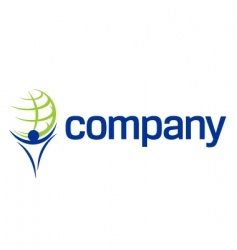 finance world titan company logo vector image vector image