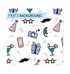 Friday party pattern birthday funny vector