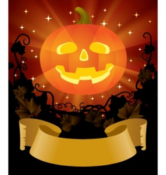 Halloween placard vector image vector image