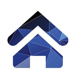 Home icon abstract triangle vector