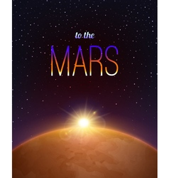 Mars Realistic Background vector image vector image