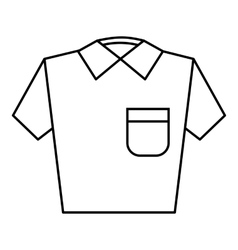 Men polo icon outline style vector