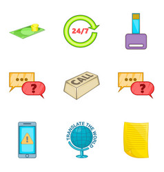 Reply icons set cartoon style vector