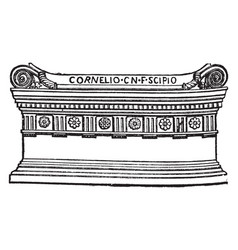 Roman sarcophagus tomb a coffin or tomb of stone vector