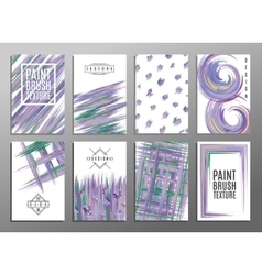 Set of artistic creative universal cards Paint vector image vector image