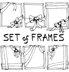 Set of frames with bows vector image