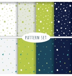Set of hand drawn seamless patterns vector image vector image