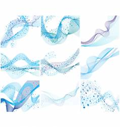 set of water background vector image vector image