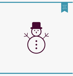 snowman icon simple vector image vector image