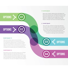 Two smooth strips for infographics with four vector