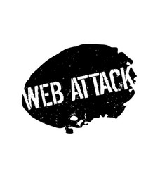 Web attack rubber stamp vector