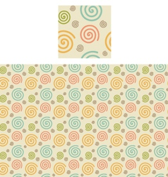 Spirals pattern swatch vector