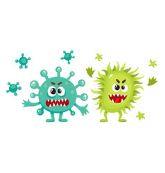 Couple of virus germ bacteria microorganism vector