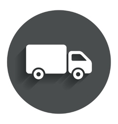 Delivery truck sign icon Cargo van symbol vector image
