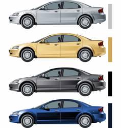 volga siber color variants vector image