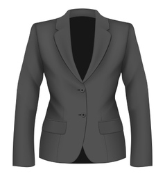Ladies black suit jacket vector