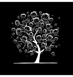 People tree for your design vector image